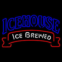Icehouse Red Ribbon Beer Sign Neon Skilt