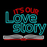 Its Love Story Neon Skilt