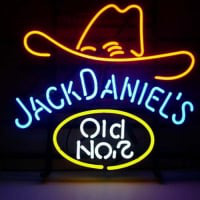 Jack Daniels Old #7 Whiskey Øl Bar Åben Neon Skilt