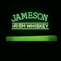 Jameson Irish Whiskey Øl Bar Åben Neon Skilt