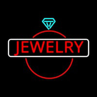 Jewelry Center Ring Logo Neon Skilt