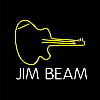 Jim Beam Guitar Neon Skilt