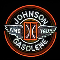 Johnson Gasoline Neon Skilt