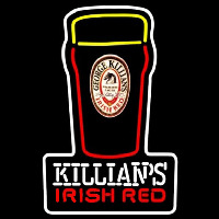 Killians Irish Red Pint Glass Of Beer Sign Neon Skilt