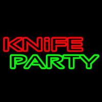 Knife Party 1 Neon Skilt