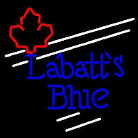 Labatt Blue Maple Leaf White Border Beer Sign Neon Skilt