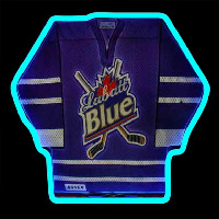 Labatt Hockey Jersey Beer Sign Neon Skilt