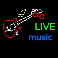 Live Green Music Blue Neon Skilt