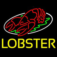 Lobster Block With Logo Neon Skilt