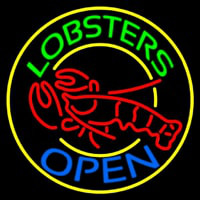 Lobsters Open Neon Skilt