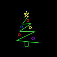 Logo Christmas Tree Neon Skilt
