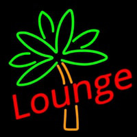 Lounge With Flower Neon Skilt