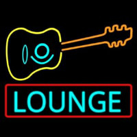 Lounge With Guitar  Neon Skilt