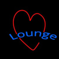 Lounge With Heart Neon Skilt