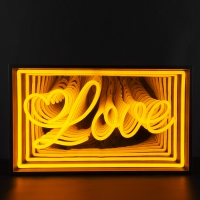 Love 3D Infinity LED Neon Sign