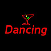 Martini Glass Dancing Neon Skilt