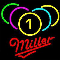 Miller Billiards Rack Pool Neon Skilt