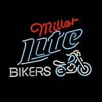 Miller Lite Bike Bikers Bicycle Logo Neon Skilt