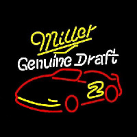 Miller NASCAR Rusty Wallace 2 Beer Sign Neon Skilt