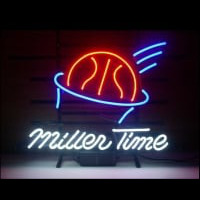 Miller Time Basketball Neon Skilt