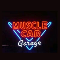 Muscle Car Garage Butik Åben Neon Skilt