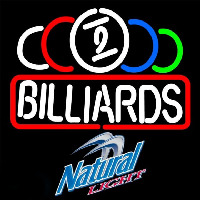Natural Light Ball Billiards Te t Pool Beer Sign Neon Skilt