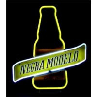 Negra Modelo Dark Beer Bottle Neon Skilt