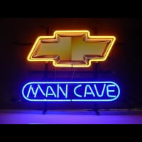 New Chevrolet Chevy Man Cave Neon Skilt
