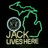 New Jack Daniels Lives Here Michigan Whiskey Real Neon Øl Bar Skilt