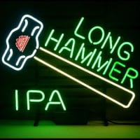 New Redhook Long Hammer Ipa Øl Neon Øl Bar Pub Skilt