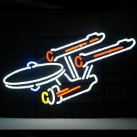 New Star Trek Enterprise Space Ship Neon Øl Bar Pub Skilt