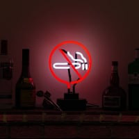 No Smoking Desktop Neon Skilt
