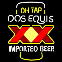 On Tap Dos Equis Beer Sign Neon Skilt