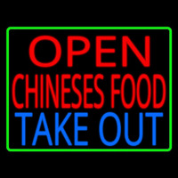 Open Chinese Food Take Out Neon Skilt