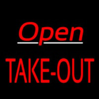Open Take Out Neon Skilt