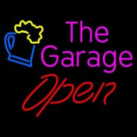 Open The Garage Neon Skilt