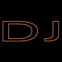 Orange Dj Double Stroke Neon Skilt