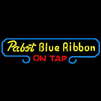 Pabst Blue Ribbon On Tap Beer Sign Neon Skilt