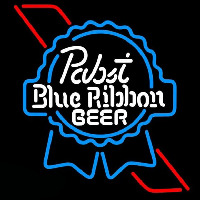 Pabst Skyblue Red Ribbon Beer Sign Neon Skilt