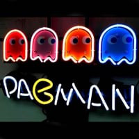 Pacman Game Øl Bar Neon Skilt