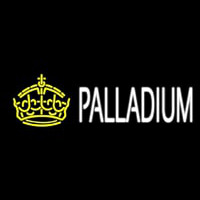 Palladium Block Yellow Crown Neon Skilt
