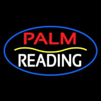 Palm Reading Yellow Line Neon Skilt