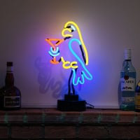 Parrot Cocktail Desktop Neon Skilt