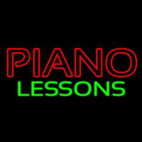Piano Lessons Neon Skilt