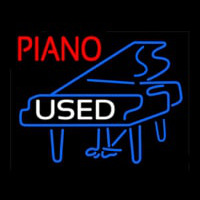 Piano Logo White Used Neon Skilt