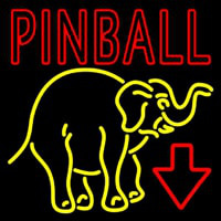 Pinball With Arrow Neon Skilt