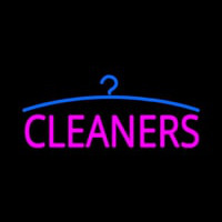 Pink Cleaners Logo Neon Skilt