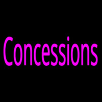 Pink Concessions Neon Skilt