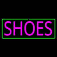Pink Shoes Green Border Neon Skilt