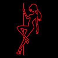 Pole Dance Girl Strip Club Neon Skilt